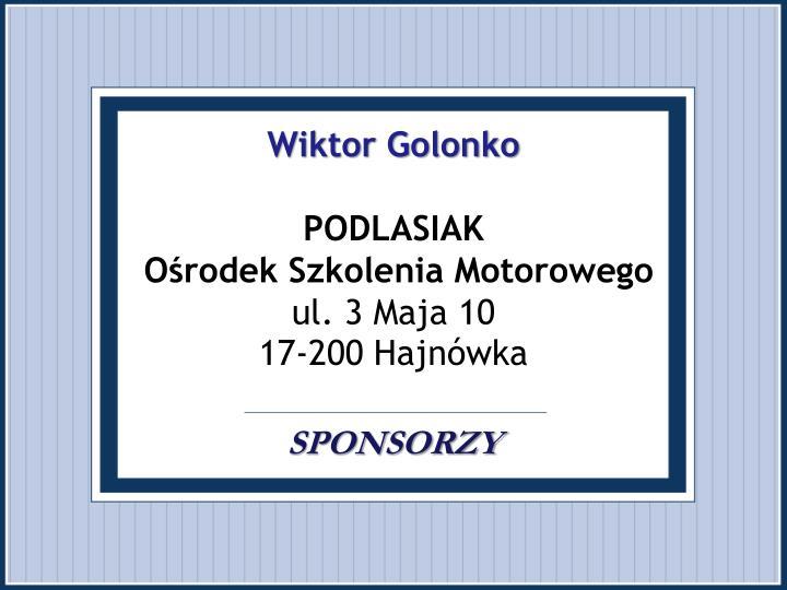 Wiktor Golonko