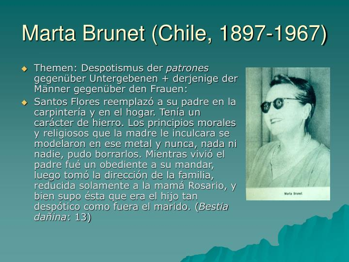 Marta Brunet (Chile, 1897-1967)