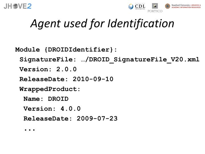 Agent used for Identification