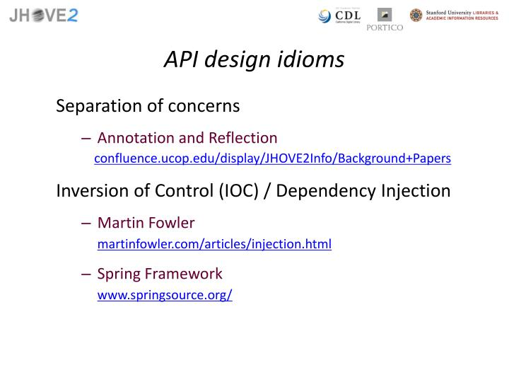 API design idioms