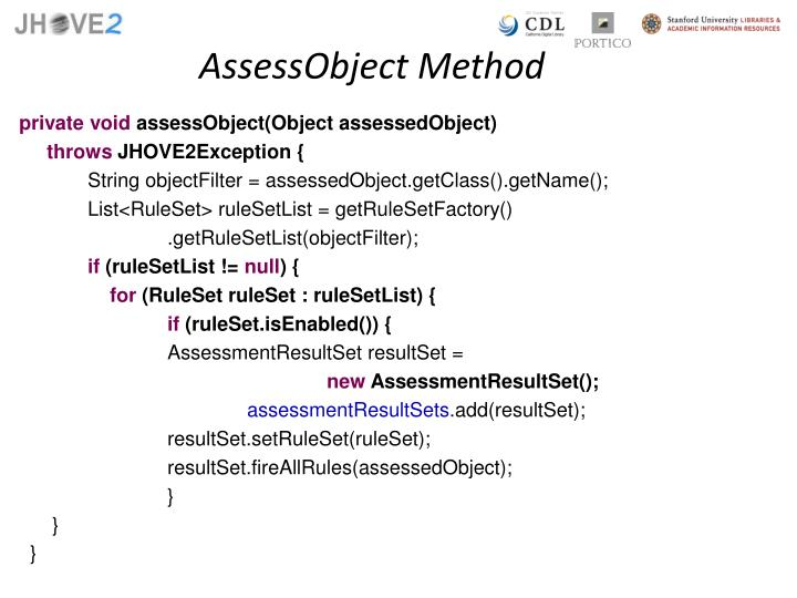 AssessObject Method