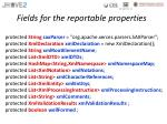 fields for the reportable properties