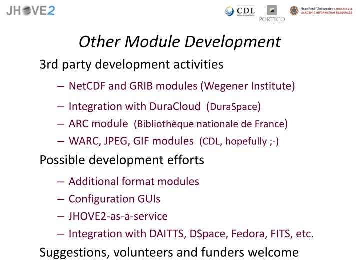 Other Module Development