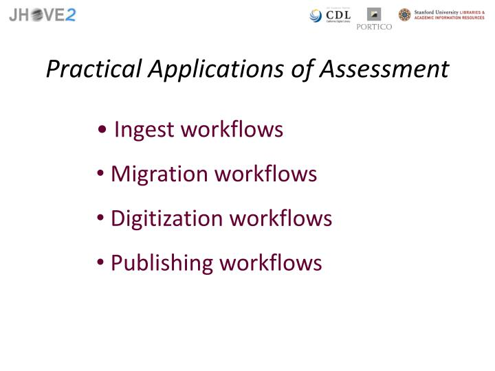 Practical Applications of Assessment