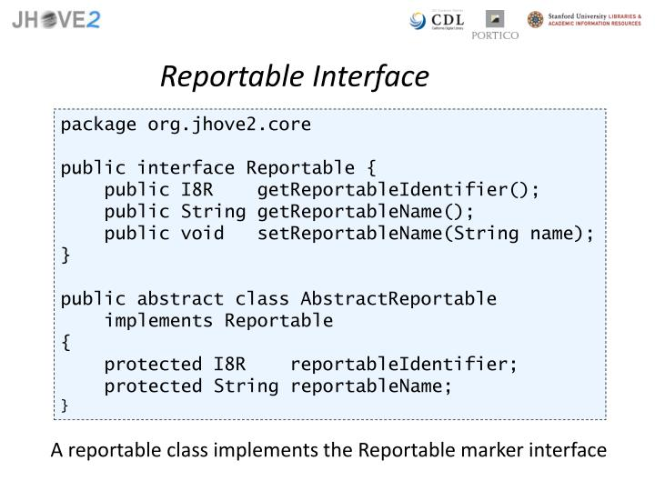 Reportable Interface