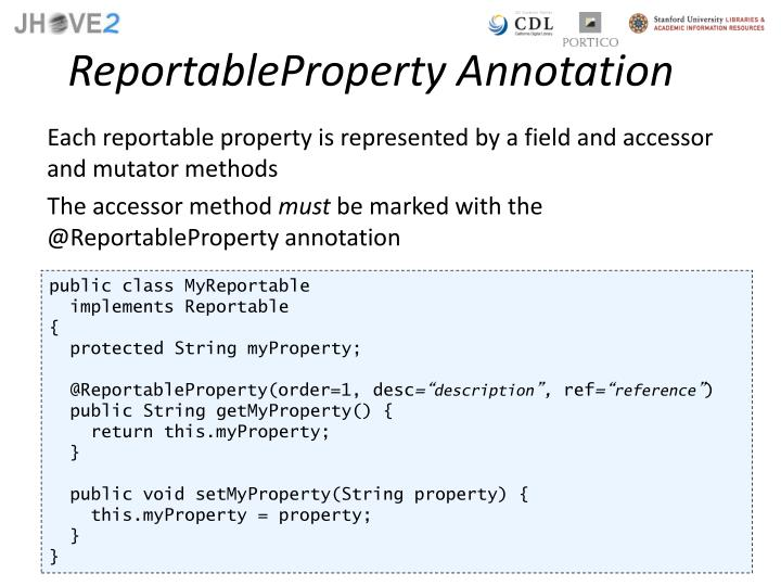 ReportableProperty Annotation