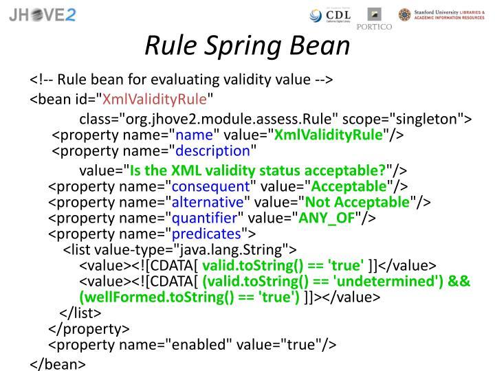 Rule Spring Bean