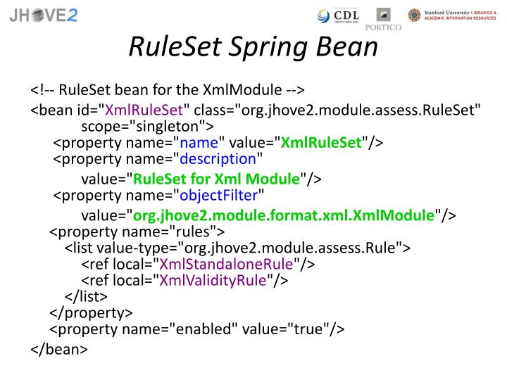 RuleSet Spring Bean