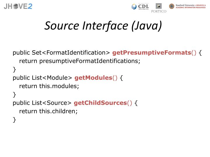 Source Interface (Java)