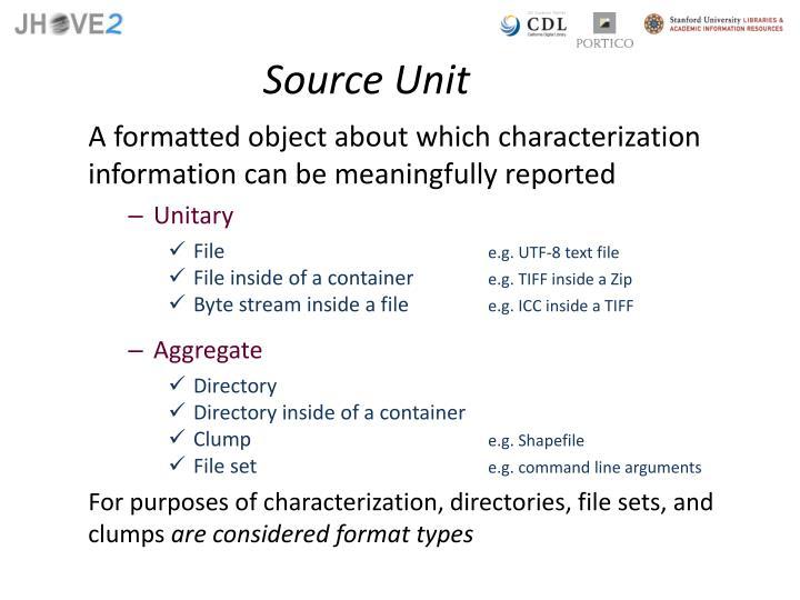 Source Unit