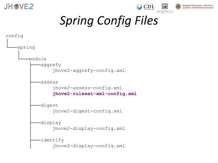 Spring Config Files