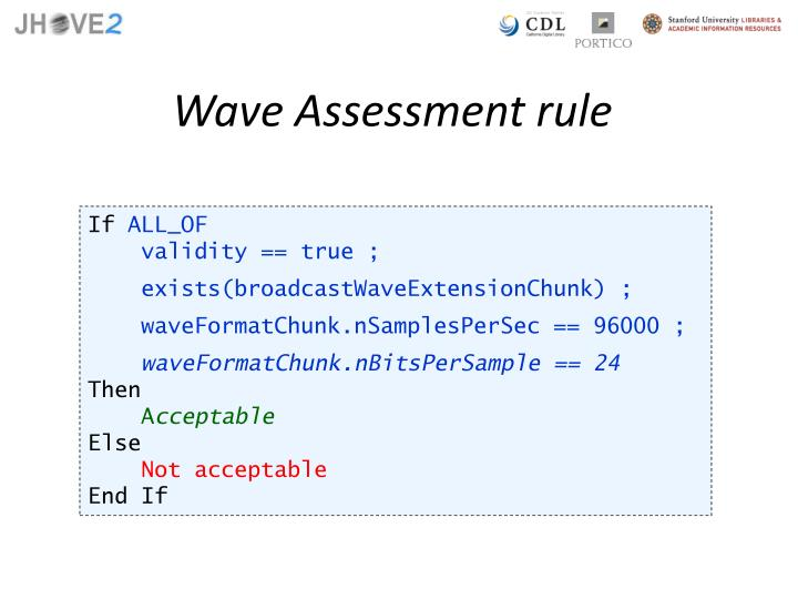 Wave Assessment rule
