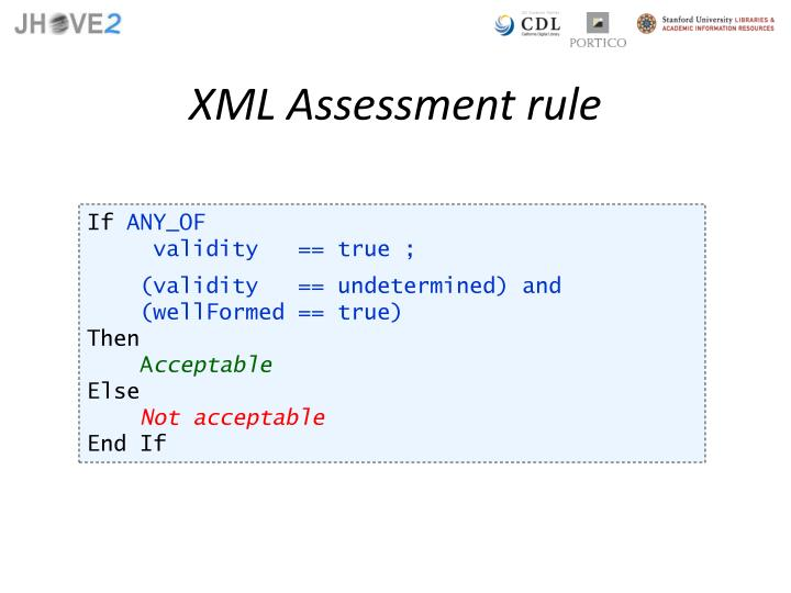 XML Assessment rule