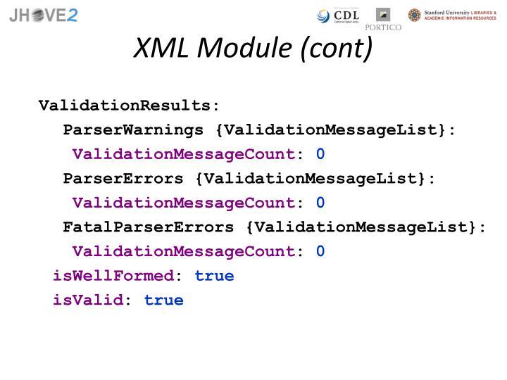 XML Module (cont)