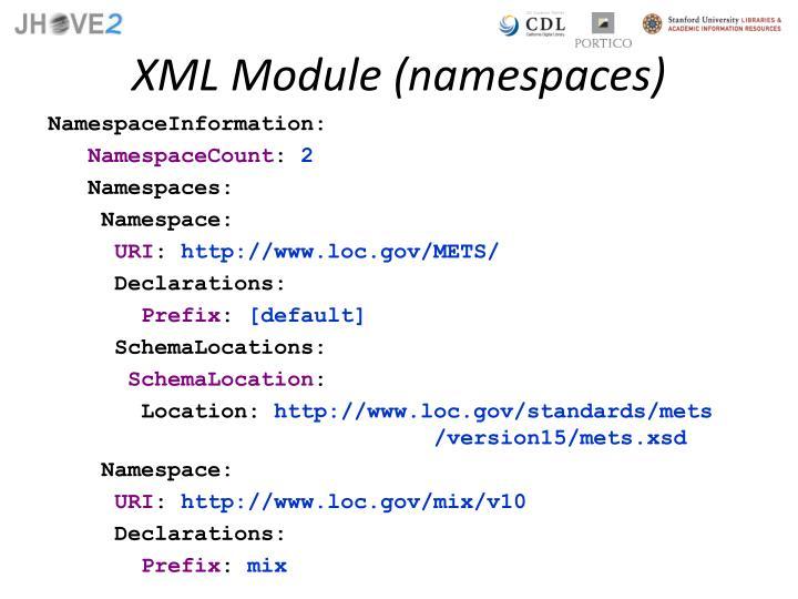 XML Module (namespaces)