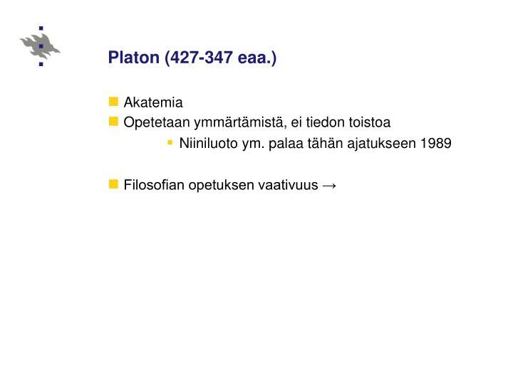 Platon (427‑347 eaa.)