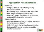 application area examples