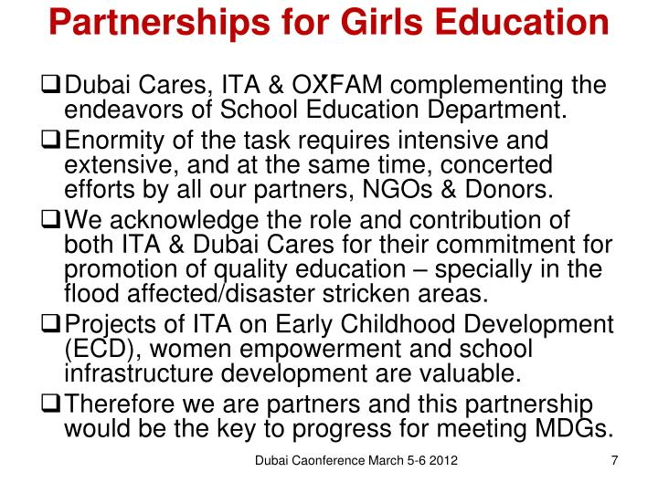 Partnerships for Girls Education