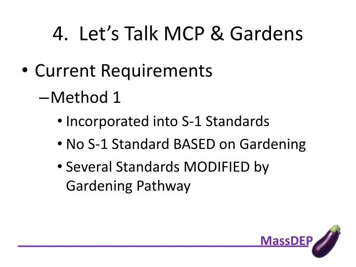4.  Let's Talk MCP & Gardens