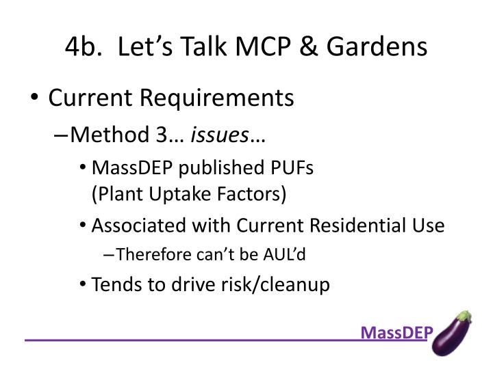 4b.  Let's Talk MCP & Gardens
