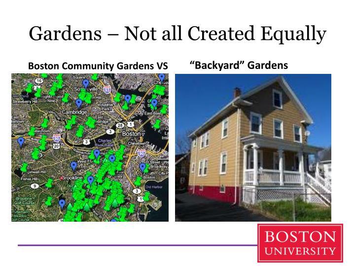 """Backyard"" Gardens"