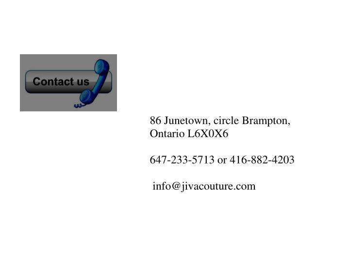 86 Junetown, circle Brampton,