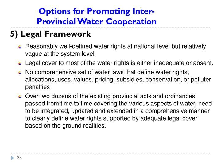 5) Legal Framework