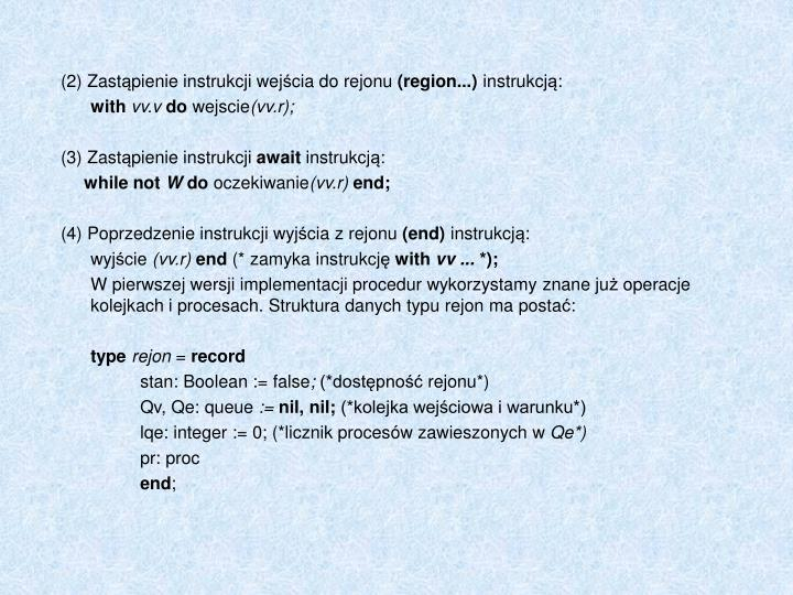 (2) Zast