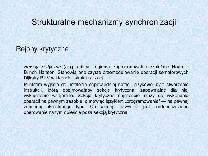 Strukturalne mechanizmy synchronizacji