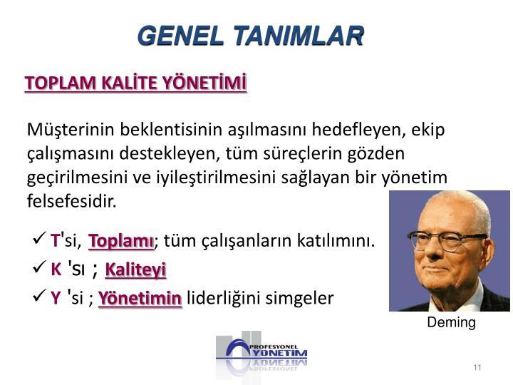 GENEL TANIMLAR