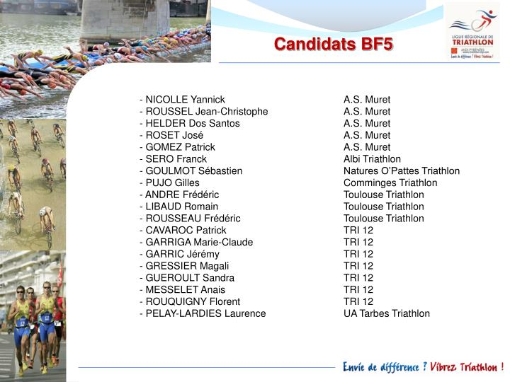 Candidats BF5