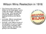 wilson wins reelection in 19161
