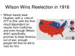 wilson wins reelection in 19162