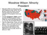 woodrow wilson minority president