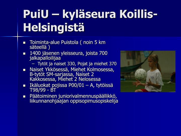 PuiU – kyläseura Koillis-Helsingistä