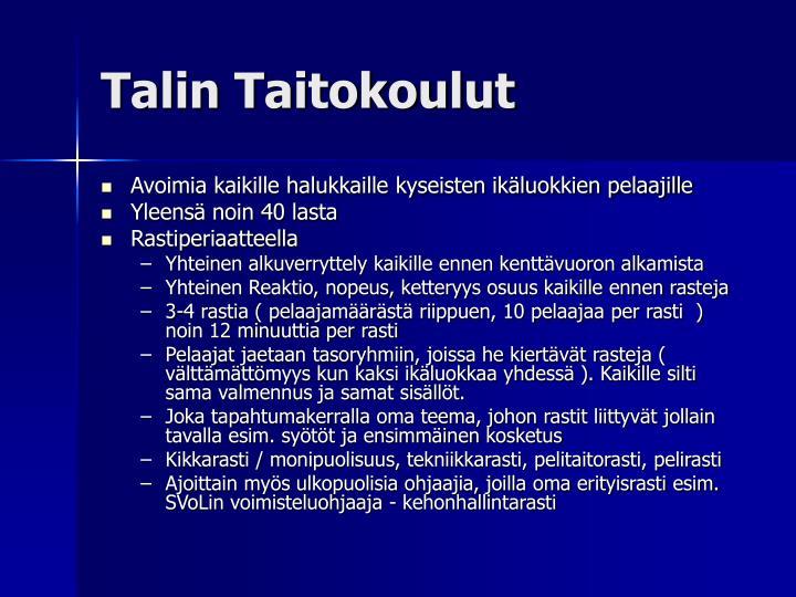 Talin Taitokoulut