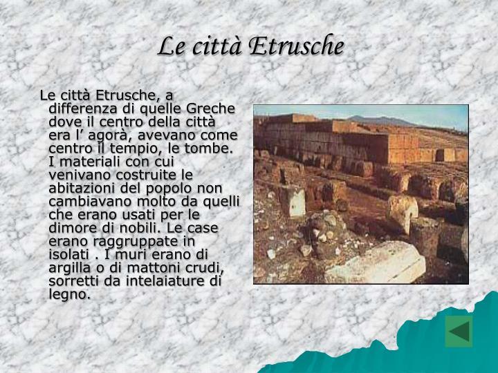 Le città Etrusche