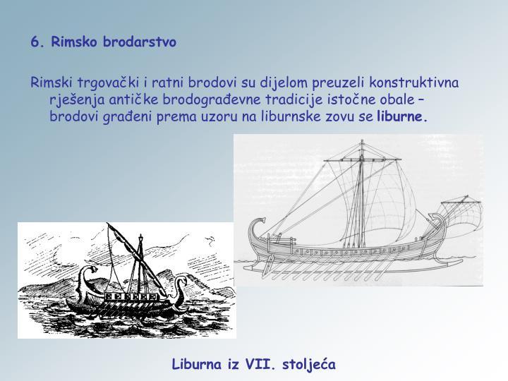 6. Rimsko brodarstvo