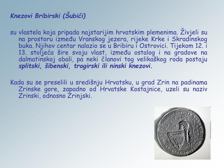 Knezovi Bribirski (Šubići)