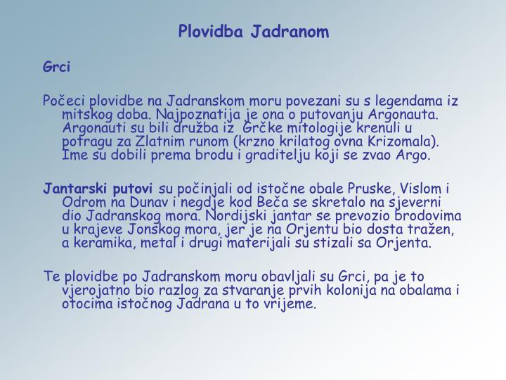 Plovidba Jadranom
