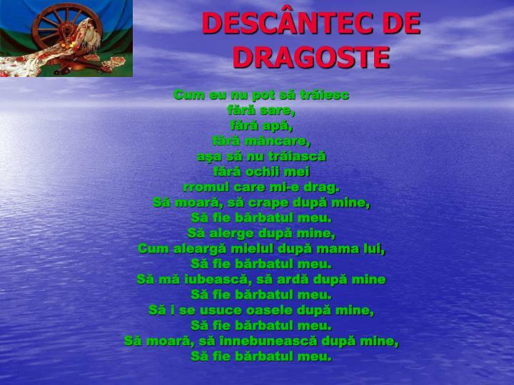 DESCÂNTEC DE DRAGOSTE