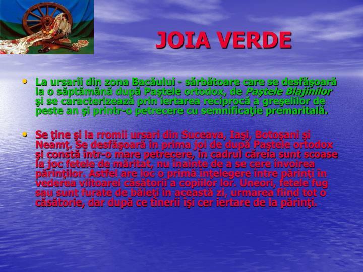 JOIA VERDE