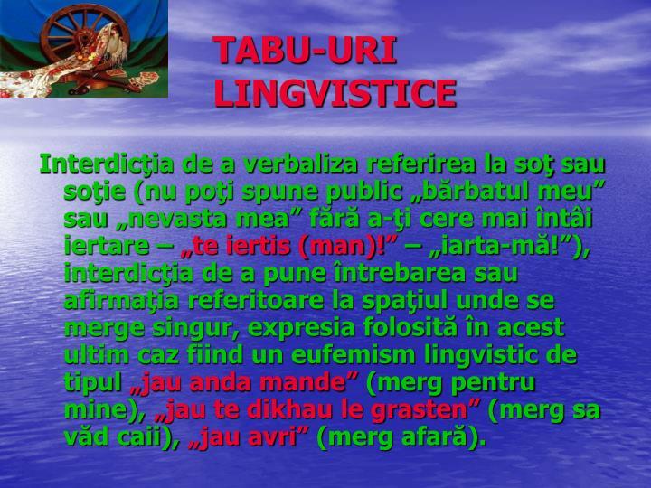 TABU-URI LINGVISTICE