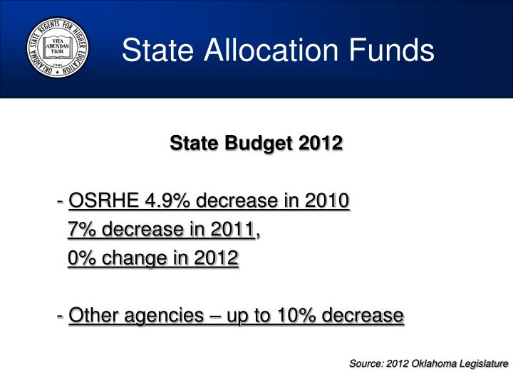 State Allocation Funds