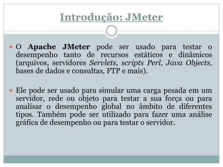 Introdução: JMeter