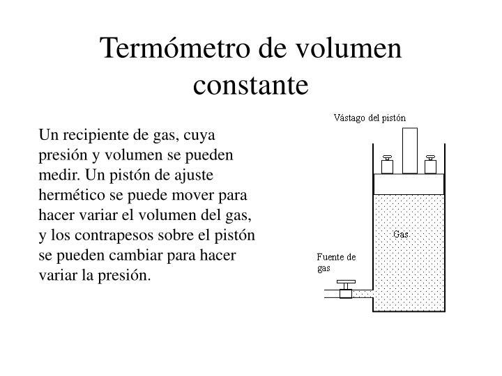Termómetro de volumen constante