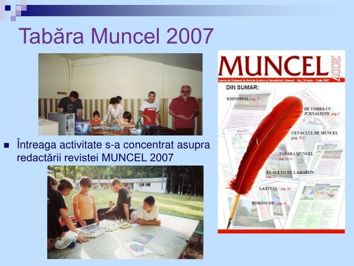 Tabăra Muncel 2007