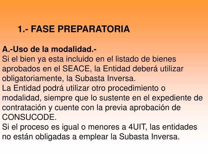1.- FASE PREPARATORIA