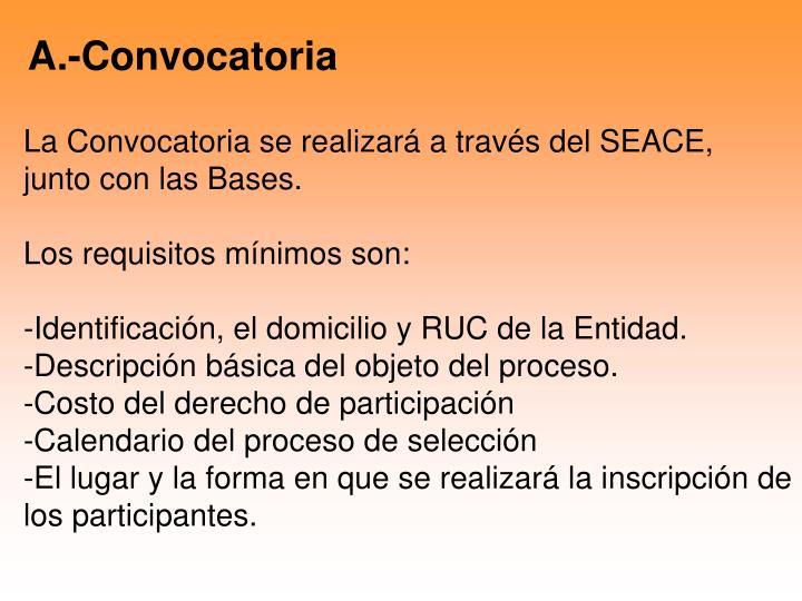 A.-Convocatoria