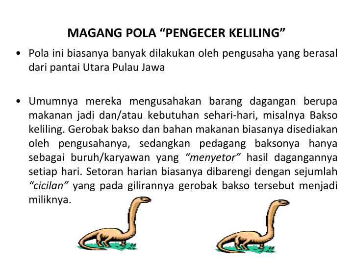 "MAGANG POLA ""PENGECER KELILING"""